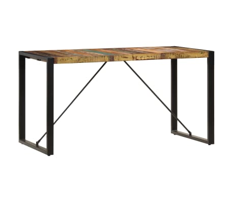 vidaXL Dining Table 140x70x75 cm Solid Reclaimed Wood[13/13]