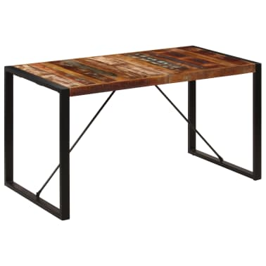 vidaXL Dining Table 140x70x75 cm Solid Reclaimed Wood[11/13]