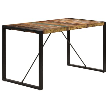 vidaXL Dining Table 140x70x75 cm Solid Reclaimed Wood[3/13]