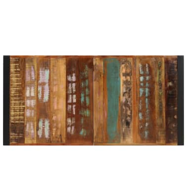 vidaXL Dining Table 140x70x75 cm Solid Reclaimed Wood[4/13]