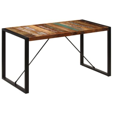 vidaXL Dining Table 140x70x75 cm Solid Reclaimed Wood[10/13]