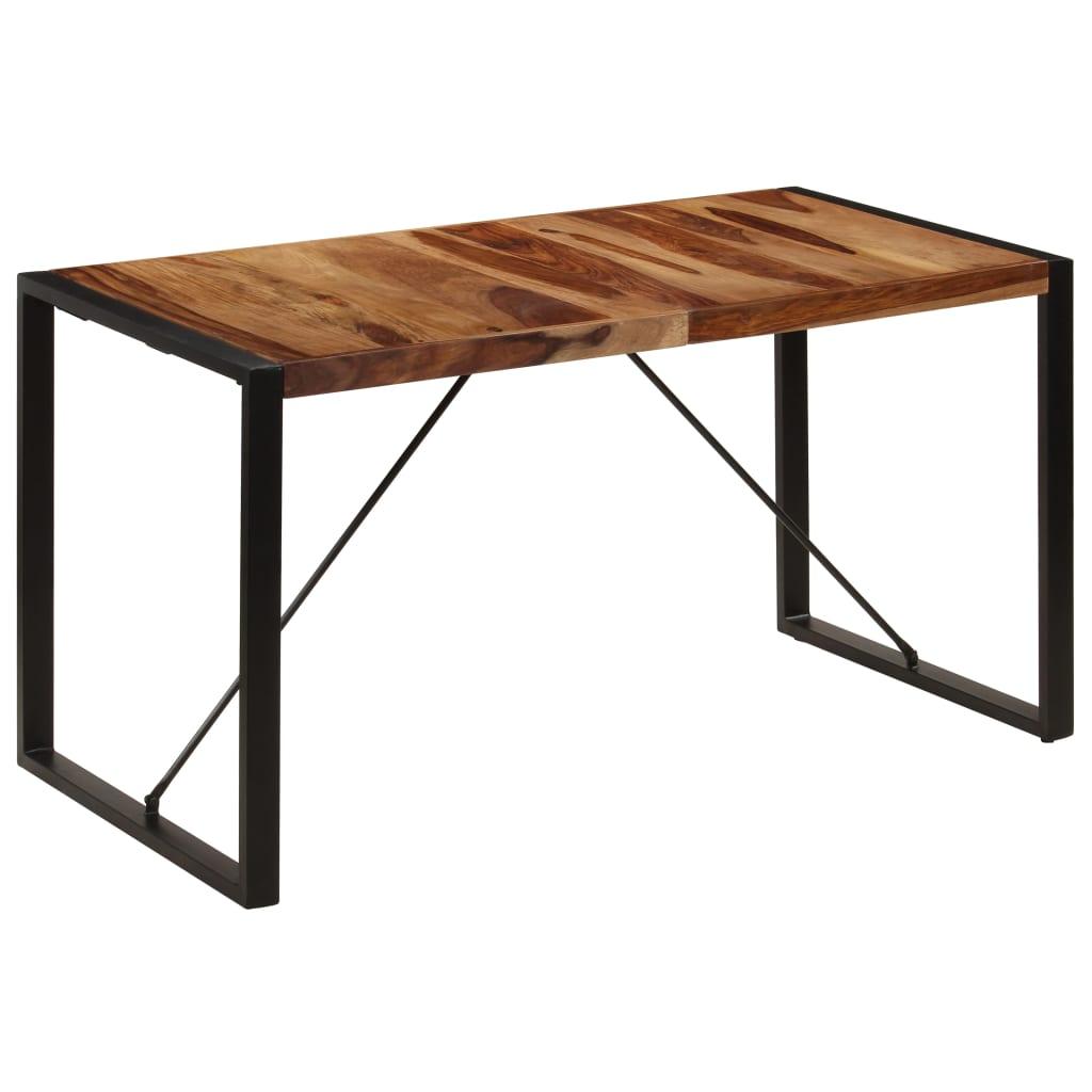 vidaXL Masă de bucătărie, 140 x 70 x 75 cm, lemn masiv de sheesham vidaxl.ro