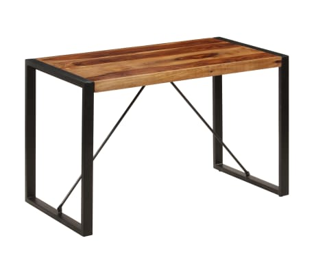 "vidaXL Dining Table 47.2""x23.6""x29.9"" Solid Sheesham Wood[8/12]"
