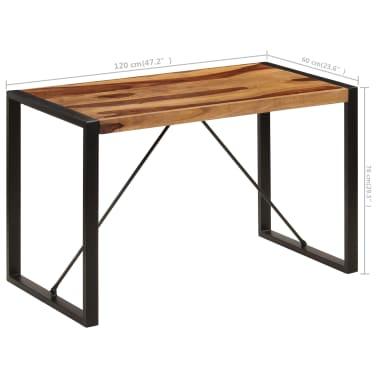 "vidaXL Dining Table 47.2""x23.6""x29.9"" Solid Sheesham Wood[7/12]"