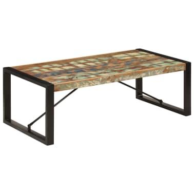 vidaXL Kavos staliukas, 120x60x40 cm, perdirbtos medienos masyvas[1/10]