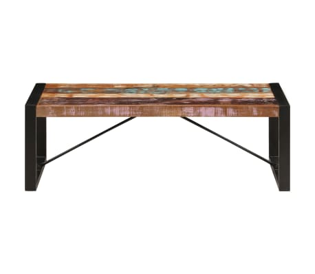 vidaXL Kavos staliukas, 120x60x40 cm, perdirbtos medienos masyvas[2/10]