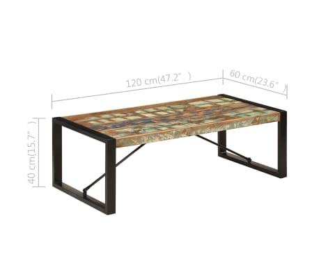 vidaXL Kavos staliukas, 120x60x40 cm, perdirbtos medienos masyvas[6/10]