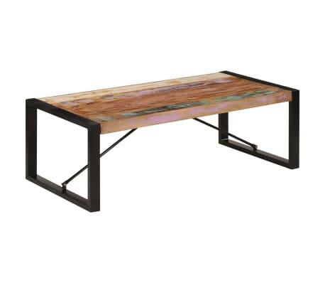 vidaXL Kavos staliukas, 120x60x40 cm, perdirbtos medienos masyvas[10/10]