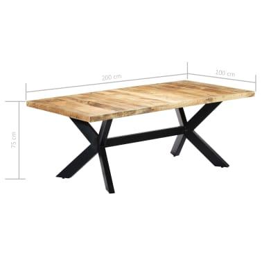 "vidaXL Dining Table 78.7""x39.4""x29.5"" Solid Mango Wood[7/11]"