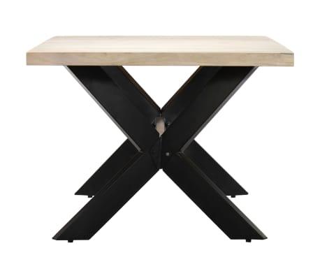 "vidaXL Dining Table White 78.7""x39.4""x29.5"" Solid Mango Wood[3/11]"