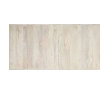 "vidaXL Dining Table White 78.7""x39.4""x29.5"" Solid Mango Wood[4/11]"