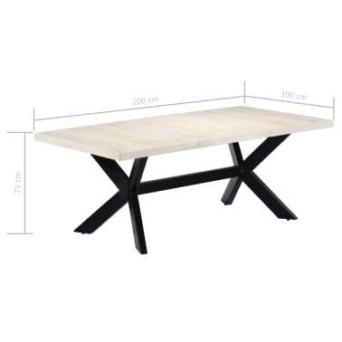 "vidaXL Dining Table White 78.7""x39.4""x29.5"" Solid Mango Wood[7/11]"