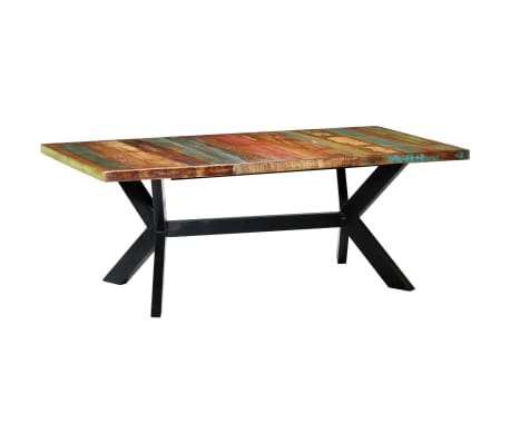 "vidaXL Dining Table 78.7""x39.4""x29.5"" Solid Reclaimed Wood"