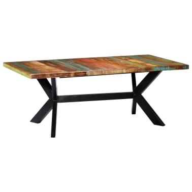 "vidaXL Dining Table 78.7""x39.4""x29.5"" Solid Reclaimed Wood[1/10]"