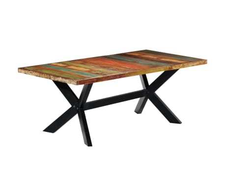"vidaXL Dining Table 78.7""x39.4""x29.5"" Solid Reclaimed Wood[7/10]"