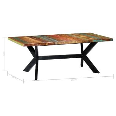 "vidaXL Dining Table 78.7""x39.4""x29.5"" Solid Reclaimed Wood[5/10]"