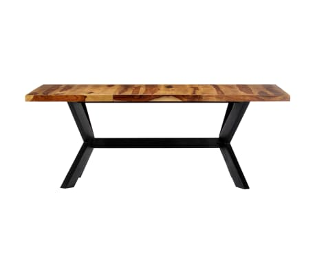 "vidaXL Dining Table 78.7""x39.4""x29.5"" Solid Sheesham Wood[3/10]"