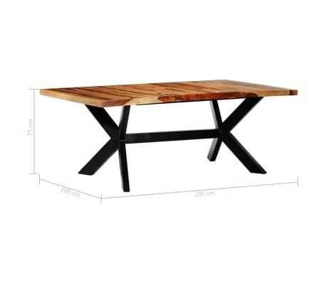 "vidaXL Dining Table 78.7""x39.4""x29.5"" Solid Sheesham Wood[6/10]"