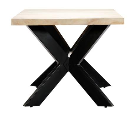 "vidaXL Dining Table White 70.9""x35.4""x29.5"" Solid Mango Wood[3/10]"
