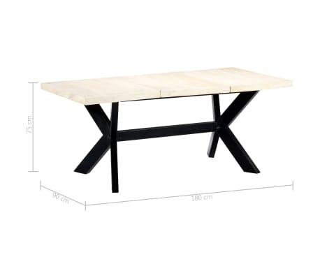 "vidaXL Dining Table White 70.9""x35.4""x29.5"" Solid Mango Wood[5/10]"