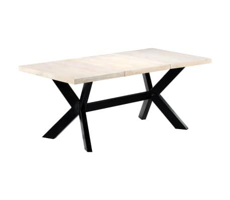 "vidaXL Dining Table White 70.9""x35.4""x29.5"" Solid Mango Wood[6/10]"