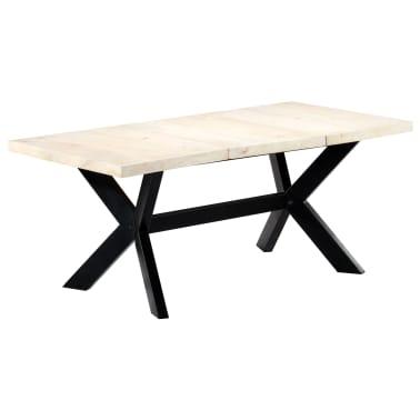 "vidaXL Dining Table White 70.9""x35.4""x29.5"" Solid Mango Wood[8/10]"