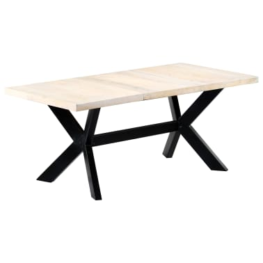 "vidaXL Dining Table White 70.9""x35.4""x29.5"" Solid Mango Wood[9/10]"