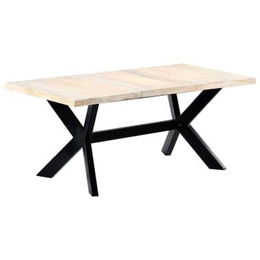 "vidaXL Dining Table White 70.9""x35.4""x29.5"" Solid Mango Wood[10/10]"