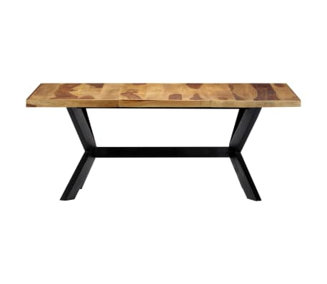 "vidaXL Dining Table 70.9""x35.4""x29.5"" Solid Sheesham Wood[2/10]"