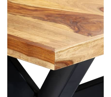 "vidaXL Dining Table 70.9""x35.4""x29.5"" Solid Sheesham Wood[4/10]"