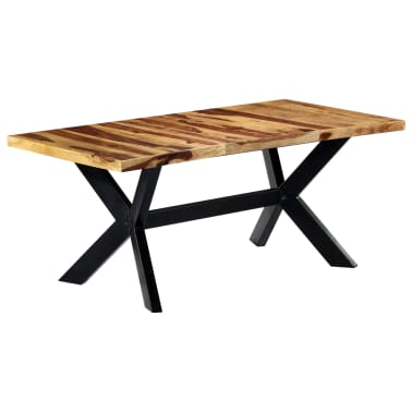 "vidaXL Dining Table 70.9""x35.4""x29.5"" Solid Sheesham Wood[7/10]"