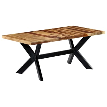 "vidaXL Dining Table 70.9""x35.4""x29.5"" Solid Sheesham Wood[8/10]"