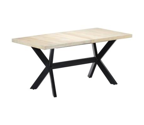 "vidaXL Dining Table White 63""x31.5""x29.5"" Solid Mango Wood[1/11]"