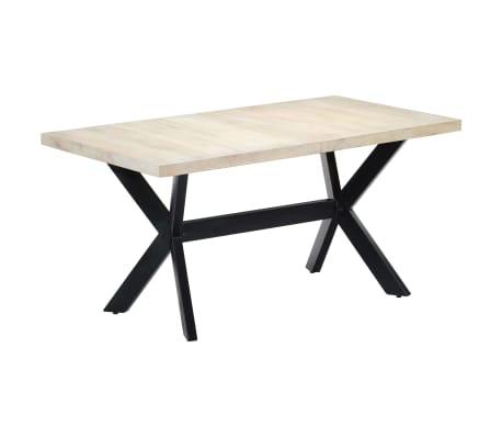 "vidaXL Dining Table White 63""x31.5""x29.5"" Solid Mango Wood[11/11]"