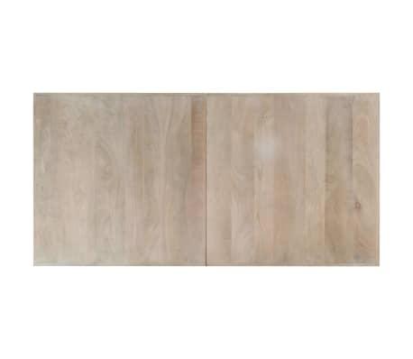 "vidaXL Dining Table White 63""x31.5""x29.5"" Solid Mango Wood[4/11]"