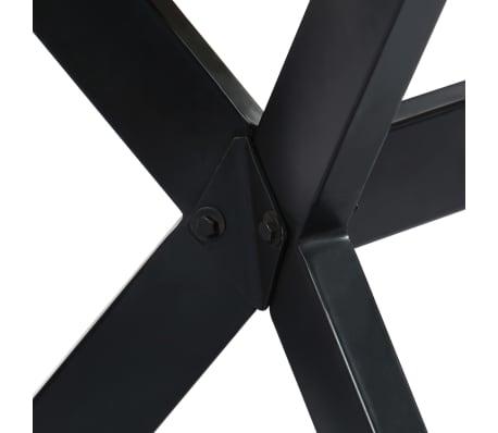 "vidaXL Dining Table White 63""x31.5""x29.5"" Solid Mango Wood[6/11]"