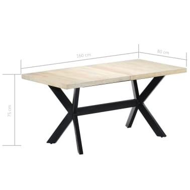 "vidaXL Dining Table White 63""x31.5""x29.5"" Solid Mango Wood[7/11]"