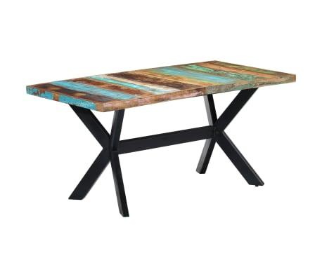 "vidaXL Dining Table 63""x31.5""x29.5"" Solid Reclaimed Wood"