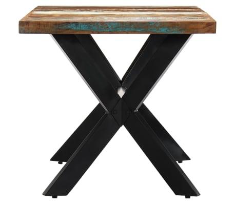 vidaXL Valgomojo stalas, 160x80x75cm, perdirbtos medienos masyvas[3/11]