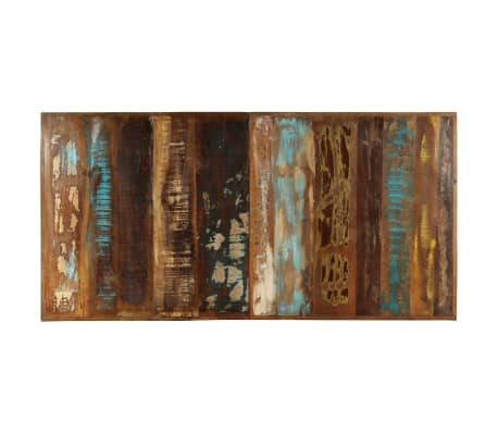 vidaXL Valgomojo stalas, 160x80x75cm, perdirbtos medienos masyvas[4/11]