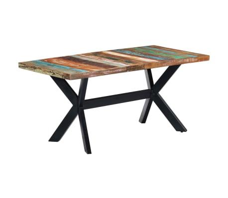 vidaXL Valgomojo stalas, 160x80x75cm, perdirbtos medienos masyvas[9/11]