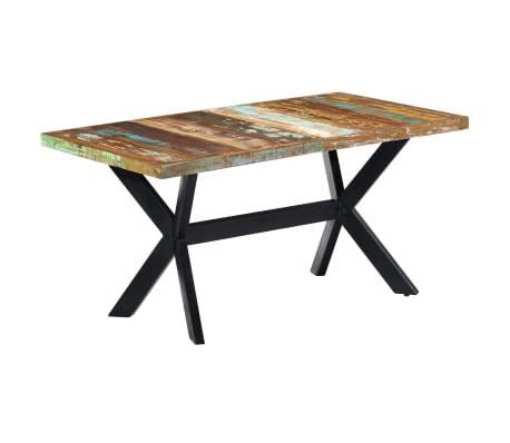 vidaXL Valgomojo stalas, 160x80x75cm, perdirbtos medienos masyvas[10/11]