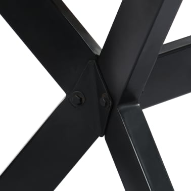 vidaXL Valgomojo stalas, 160x80x75cm, perdirbtos medienos masyvas[6/11]