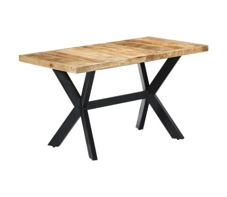 "vidaXL Dining Table 55.1""x27.6""x29.5"" Solid Rough Mango Wood[1/11]"