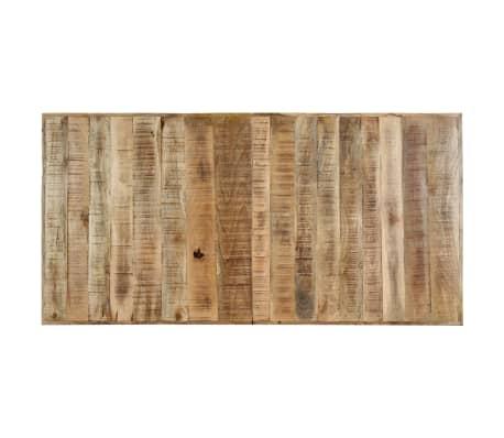 "vidaXL Dining Table 55.1""x27.6""x29.5"" Solid Rough Mango Wood[6/11]"