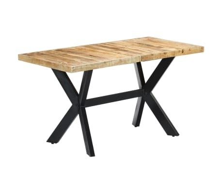 "vidaXL Dining Table 55.1""x27.6""x29.5"" Solid Rough Mango Wood[9/11]"