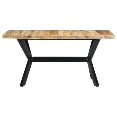 "vidaXL Dining Table 55.1""x27.6""x29.5"" Solid Rough Mango Wood[2/11]"