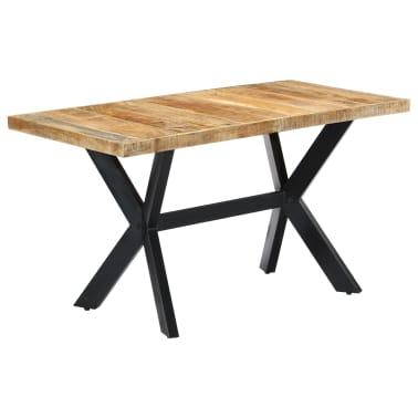 vidaXL spisebord i massivt ru mangotræ 120 cm Hjem & Have