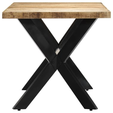 "vidaXL Dining Table 55.1""x27.6""x29.5"" Solid Rough Mango Wood[3/11]"