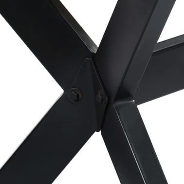"vidaXL Dining Table 55.1""x27.6""x29.5"" Solid Rough Mango Wood[4/11]"